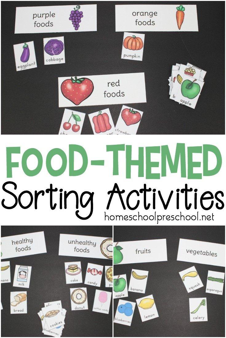 986c9fc5e84f1520205413 Preschool Food Theme Sorting