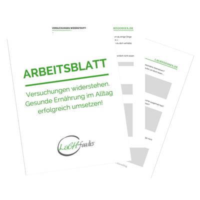 Versuchungen widerstehen: Gesunde Ernährung im Alltag + Arbeitsblatt ...