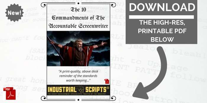 Free screenwriting resources downloads from industrial scripts 1dc39922881c1475144867 commandments 700 x 350 opting fandeluxe Gallery