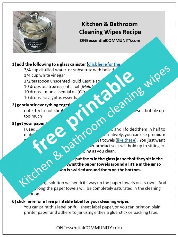 Homemade Kitchen & Bathroom Cleaning Wipes {with essential oil ...